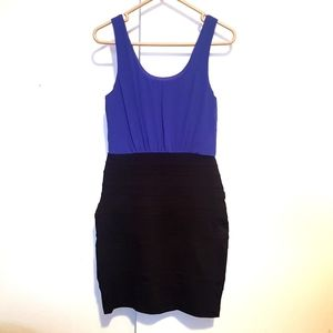 NEW Blue /black fitted dress